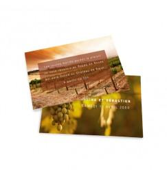 Carton d'invitation vignoble