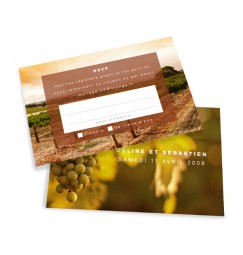 RSVP card vineyard