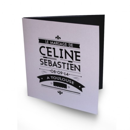 Faire Part Mariage Art Nouveau Noir Et Blanc
