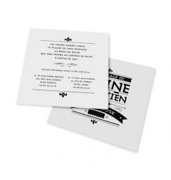 Carton d'invitation art nouveau noir et blanc