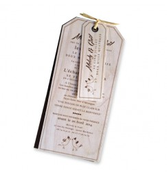 Wedding invitation wood vintage