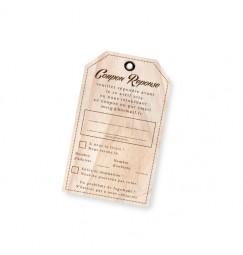 Carton réponse vintage bois