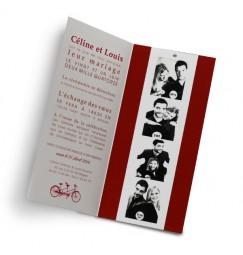Wedding invitation red photo machine