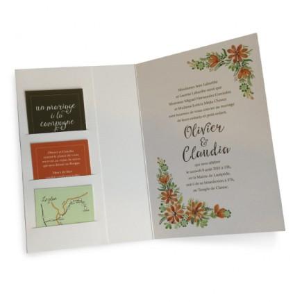 Wedding invitation country clover