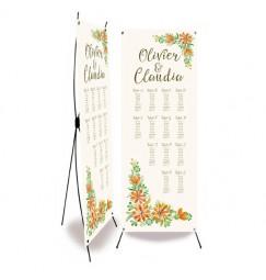 Plan de table mariage champêtre trèfles