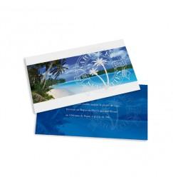 Carton d'invitation plage caraïbe