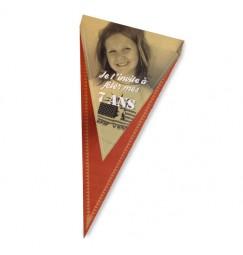 Birthday invitation flag