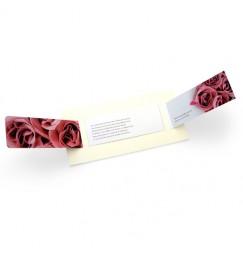 Faire part mariage rose wrap