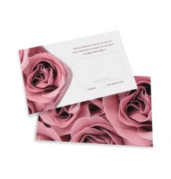 Carton réponse rose wrap