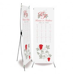 Table plan banner vigne avorio