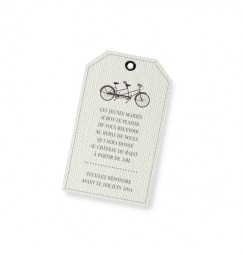 Carton d'invitation vintage vélo