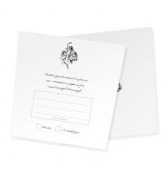 RSVP card angel corset