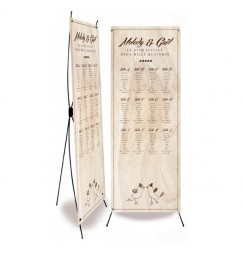 Table plan banner vintage wood
