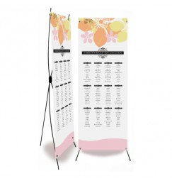 Table plan banner art deco fleur
