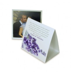 Thank you card pyramid lavender