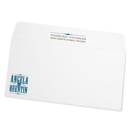 Wedding envelope biarritz