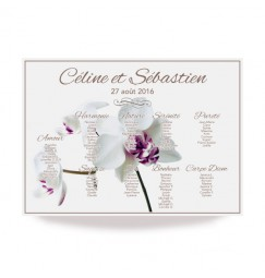 Table plan orchid champetre
