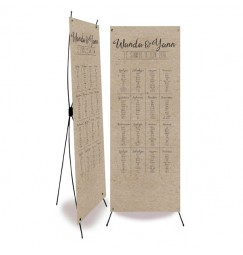Wedding table plan vintage kraft laser cut