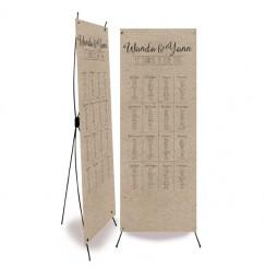 Wedding table plan vintage kraft laser cut