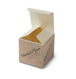 Wedding favour box vintage kraft laser cut