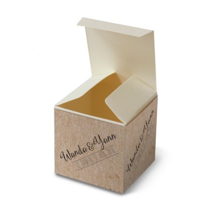Wedding favour box vintage kraft laser cut
