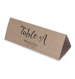 Table name vintage kraft laser cut