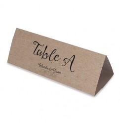 Table name vintage kraft laser cut