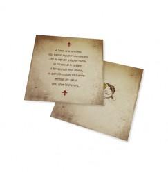 Carton d'invitation medieval