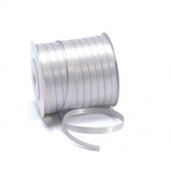 6mm silver grey ribbon