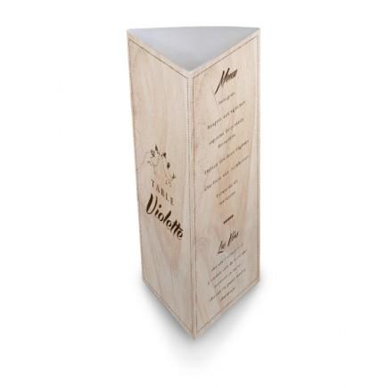 Table menu vintage wood