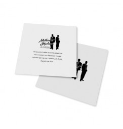 Dinner card silhouettes