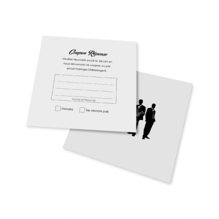 RSVP card silhouettes