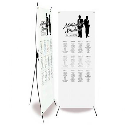 Wedding table plan silhouettes