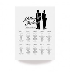 Table plan silhouettes