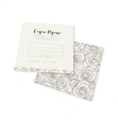 Carton réponse fleurs gris rose