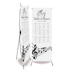 Plan de table mariage les notes de musique