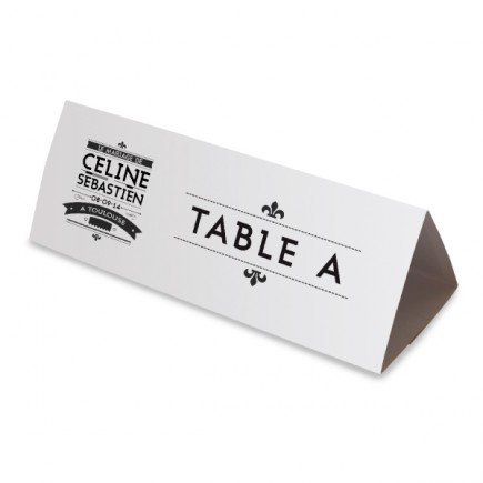 Table name black and white art nouveau