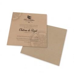 Carton d'invitation cinéma triptique