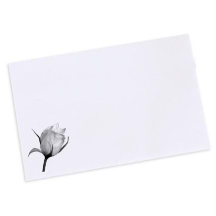 Wedding envelope black and white rose