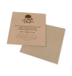 Carton d'invitation dentelle arbre