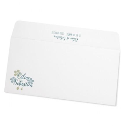 Wedding envelope the flowers