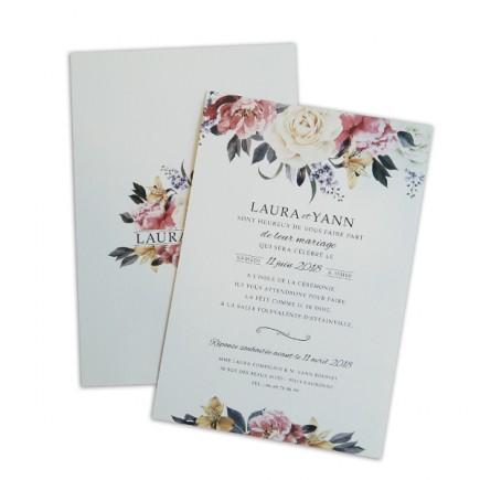Wedding invitation elegant rose