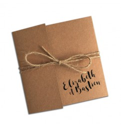 Faire part mariage kraft pocket