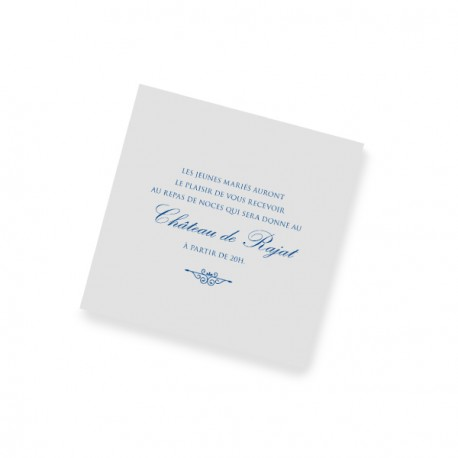 Dinner card blue lace