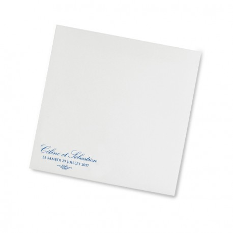 Enveloppe mariage dentelle bleu