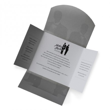 Wedding invitation silhouettes