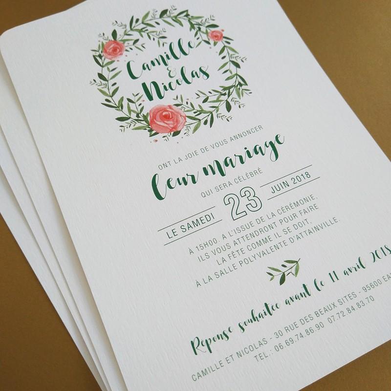 Wedding invitation flower reef