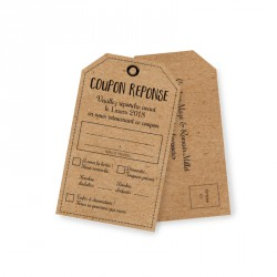 RSVP card rustique champetre