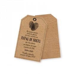 Carton d'invitation rustique champêtre