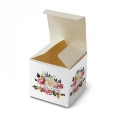 Wedding favour box blue lace